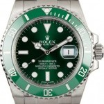 Rolex Used  116610V Green Anniversary Submariner