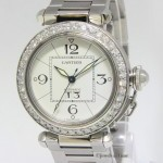Cartier Pasha Stainless Steel Diamond Bezel 35mm Ladies Au