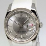 Rolex Datejust Stainless Steel 18k Bulls Eye Dial Mens W