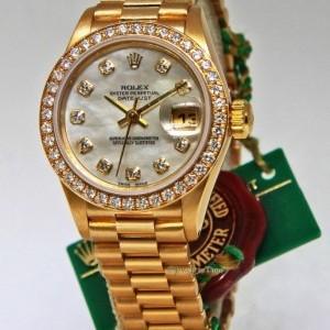 Ролекс (Rolex) Datejust 18k Yellow Gold Factory Diamond