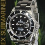 Rolex Submariner Stainless Steel Black DialBezel Mens Wa