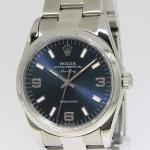 Rolex Air-King Stainless Steel Blue Dial Automatic Mens
