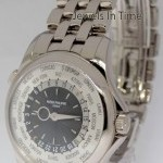 Patek Philippe World Time 18k White Gold Watch BoxPapers NEW 5130