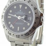 Rolex Mens Explorer II 16570 T Stainless Steel Black Dia