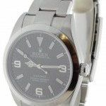 Rolex Explorer New Steel Mens Automatic Watch Black Dial