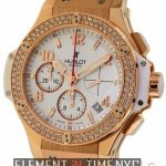 Hublot Gold White Diamonds 41mm 18k Rose Gold