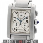 Cartier Tank Francaise Chronograph Stainless Steel Large 2