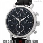IWC Chronograph Stainless Steel Black Dial 42mm