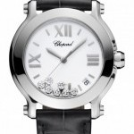 Chopard 278475-3001 black  Happy Sport Round Quartz 36mm L