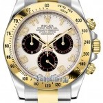 Rolex 116523 White and Black Arabic  Cosmograph Daytona