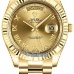 Rolex 218238 Champagne Roman President  Day-Date II 41mm