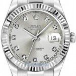 Rolex 116334 Silver Diamond  Oyster Perpetual Datejust I