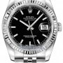 Rolex 116234 Black Index Jubilee  Datejust 36mm Stainles