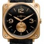 Bell & Ross BRS Pink Gold Black Bell  Ross BR-S Mechanical Gol