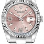 Rolex 116234 Pink Wave Oyster  Datejust 36mm Stainless S