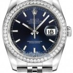 Rolex 116244 Blue Index Jubilee  Datejust 36mm Stainless