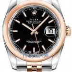 Rolex 116201 Black Index Jubilee  Datejust 36mm Stainles