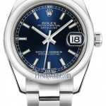Rolex 178240 Blue Index Oyster  Datejust 31mm Stainless