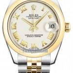 Rolex 178243 White Roman Jubilee  Datejust 31mm Stainles