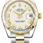 Rolex 178343 White Roman Oyster  Datejust 31mm Stainless