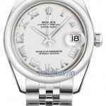 Rolex 178240 White Roman Jubilee  Datejust 31mm Stainles