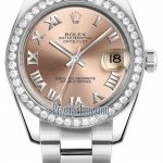 Rolex 178384 Pink Roman Oyster  Datejust 31mm Stainless