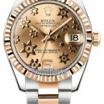 Rolex 178271 Pink Floral Oyster  Datejust 31mm Stainless