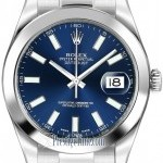 Rolex 116300 Blue Index  Oyster Perpetual Datejust II Me