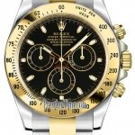 Rolex 116523 Black Index  Cosmograph Daytona Stainless S