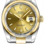 Rolex 116203 Champagne Index Oyster  Datejust 36mm Stain