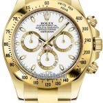 Rolex 116528 White Index  Cosmograph Daytona Yellow Gold