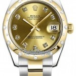 Rolex 178343 Champagne Diamond Oyster  Datejust 31mm Sta