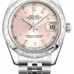 Rolex 178344 Pink Index Jubilee  Datejust 31mm Stainless