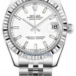 Rolex 178274 White Index Jubilee  Datejust 31mm Stainles