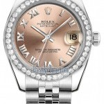 Rolex 178384 Pink Roman Jubilee  Datejust 31mm Stainless