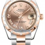 Rolex 178341 Pink Roman Oyster  Datejust 31mm Stainless