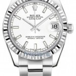 Rolex 178274 White Index Oyster  Datejust 31mm Stainless