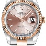 Rolex 116231 Pink Index Oyster  Datejust 36mm Stainless