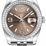 Rolex 116244 Bronze Wave Jubilee  Datejust 36mm Stainles