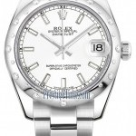 Rolex 178344 White Index Oyster  Datejust 31mm Stainless