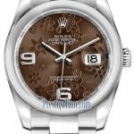 Rolex 116200 Bronze Floral Oyster  Datejust 36mm Stainle