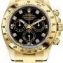 Rolex 116528 Black Diamond  Cosmograph Daytona Yellow Go