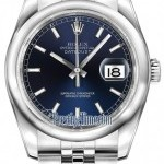 Rolex 116200 Blue Index Jubilee  Datejust 36mm Stainless