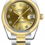 Rolex 178243 Champagne Diamond Oyster  Datejust 31mm Sta