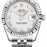 Rolex 178274 White Roman Jubilee  Datejust 31mm Stainles