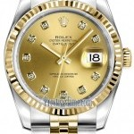Rolex 116233 Champagne Diamond Jubilee  Datejust 36mm St