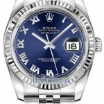 Rolex 116234 Blue Roman Jubilee  Datejust 36mm Stainless