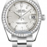 Rolex 178384 Silver Index Oyster  Datejust 31mm Stainles