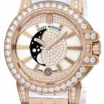 Harry Winston Oceqmp36rr020  Ocean Lady Moon Phase 36mm Ladies W
