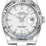 Rolex 116234 White Index Oyster  Datejust 36mm Stainless